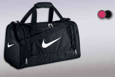 Active Human - Nike Brasilia duffle bag in a choice of black or pink - Save 50%