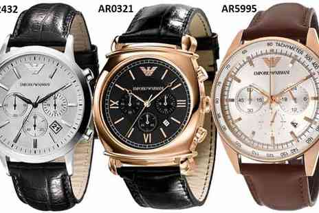 Fashion Haus - A Choice of Emporio Armani Mens Watches - Save 52%