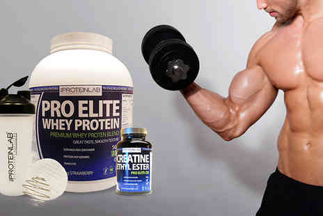 the protein lab - Pro Elite Whey Protein Creatine Bundle - Save 63%