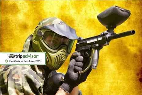 Asylum Paintball - Half day indoor paintballing experience for up to Five including 100 paintballs each  - Save 94%