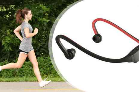 Emyub.com - Wireless Sports Headphones with MP3 - Save 84%