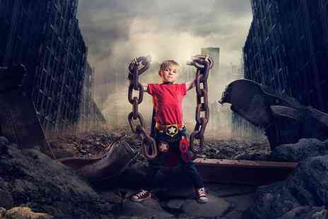 Mackney Photography - Mini superhero photoshoot including a mug and two keyrings  - Save 0%