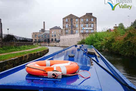 Hapton Valley Boats - Two Hour Canal Boat Cruise with Prosecco, Hot Drinks, Biscuits and Cakes for Two - Save 58%