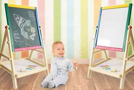Hungry Bazaar - Kids 2 in 1 Easel & Chalk Drawing Board - Save 67%