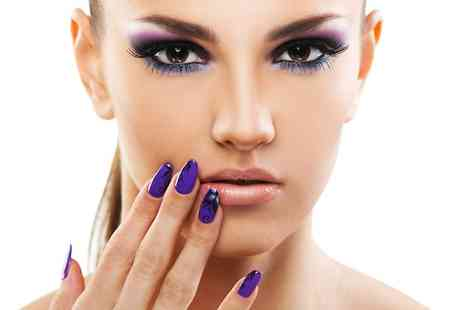 Glam - Shellac Gel Manicure or Gel Polish Pedicure  - Save 44%