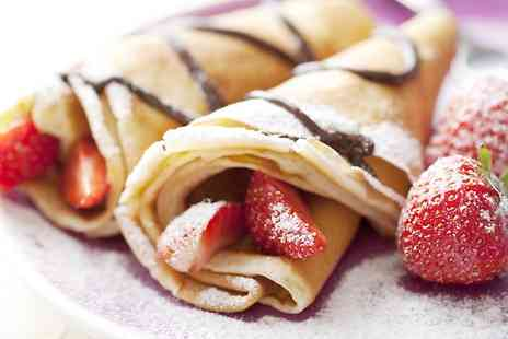 Champion Crepes - Two Savoury or Sweet Crepes and Drinks - Save 47%