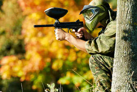 Skirmish Paintball Games - Full Day of Paintballing with 100 Paintballs Each for Two - Save 90%
