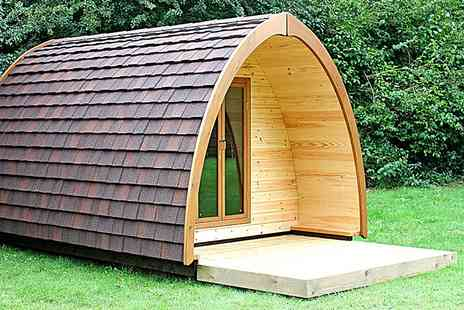 Rodway Hill Eco Pod Hotel - Two Night stay  a luxury pod with  breakfast & round of golf - Save 63%