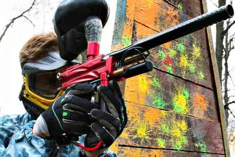 Unique Pursuits Paintball - Paintballing For Five With Hot Lunch  - Save 84%