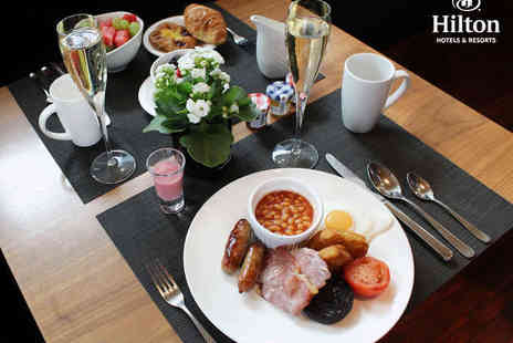 Hilton Cardiff - Champagne Breakfast for Two - Save 56%