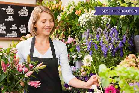 School of Floristry - Three Hour Floristry Lesson For Beginners - Save 60%