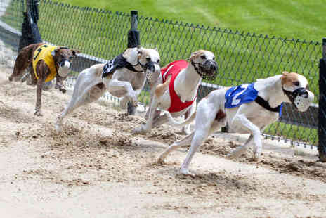 Love The Dogs  - Greyhound Racing Admission for Two with Burger and Beer or Soft Drink Each - Save 74%