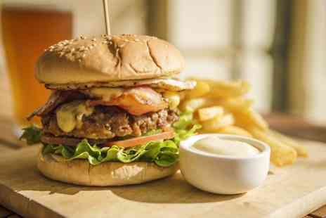The Melville Bar - Burger Meal Plus Wine or Beer For Two - Save 52%