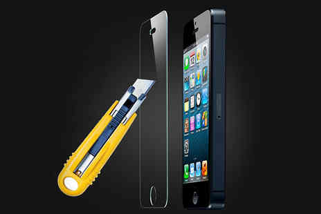 CheekyBox - Tempered Glass Screen Protector for iPhone 5/5S - Save 86%