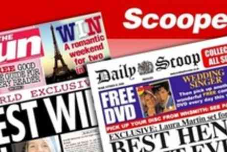 Scooped! - One personalised spoof newspaper - Save 50%