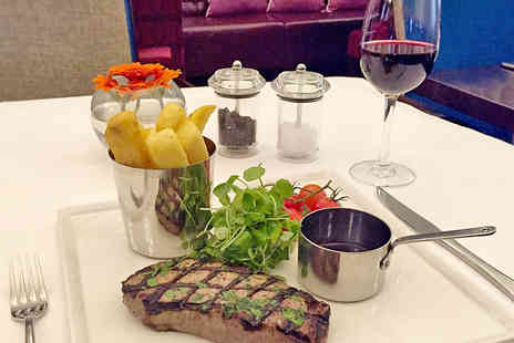 The Grosvenor Hotel - Steak Meal with Unlimited Chips and Wine for One - Save 40%