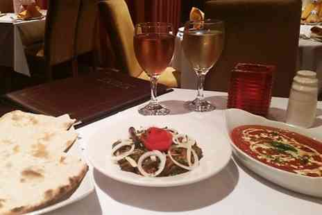 Zaika Lounge - Two Course Indian Meal With Wine for Two - Save 52%