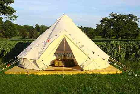 Home Farm Glamping - One or Two Night stay in a luxury bell tent or yurt  - Save 44%