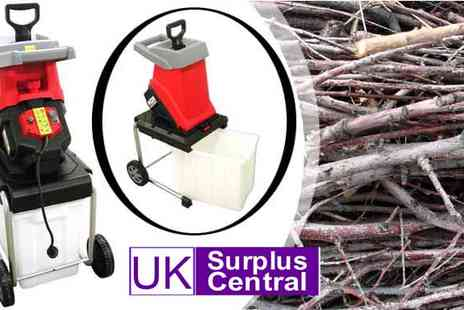 UK Surplus Central - PowerTec 2500W Impact Garden Shredder - Save 50%