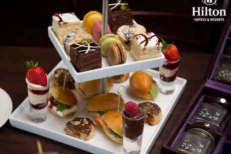 Hilton Hotel  - French Inspired Afternoon Tea with Bubbly for Two  - Save 51%