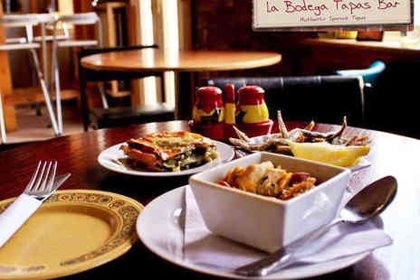 La Bodega Tapas Bar - Two Course Spanish Sharing Meal for Two - Save 51%
