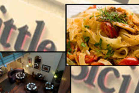 Little Sicily - Two course meal with a glass of wine for two at the chic Little - Save 64%