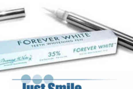 Just Smile - Forever White Professional Teeth Whitening Pen - Save 70%