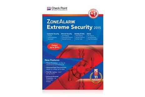 Avanquest - Up to 3 PCs of ZoneAlarm Extreme 2015 Antivirus  - Save 67%
