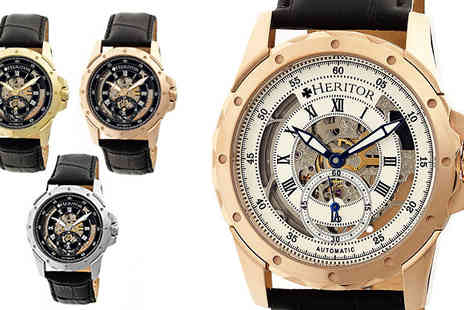 Ideal Deal - Mens Armstrong Skeleton Watch - Save 87%