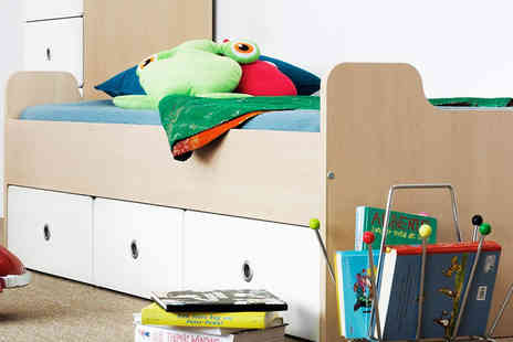 Mattress Shed - Kids three drawer cabin storage bed  - Save 50%