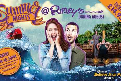 Ripleys Believe It or Not  - Summer Evening Entry  to Ripleys Believe It or Not!  - Save 0%