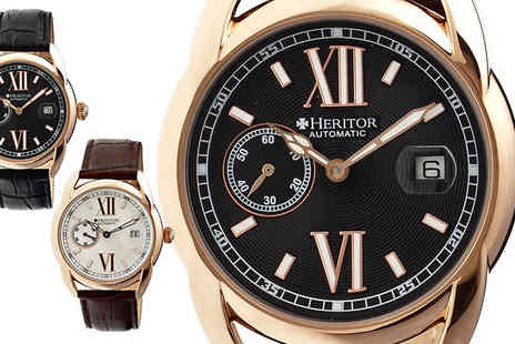 Ideal Deal - Mens Heritor Automatic Burnell Watch - Save 88%