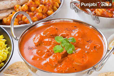 Punjabi Tadka - Main Course Each with Rice and Naan to Share for Two  - Save 62%