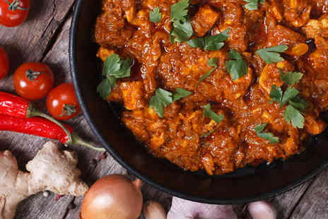 Punjabi Tadka - Choice of Curry with Rice and Naan Bread for Two  - Save 52%