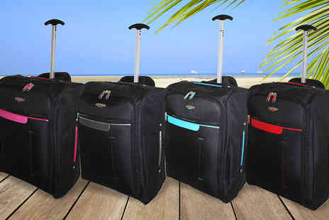 Trendy Look - Cabin Approved Hand Luggage Wheelie Suitcase - Save 75%