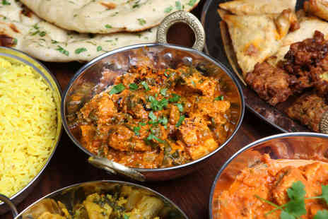 Mela Restaurant - Three course Indian meal for two including a carafe of wine to share  - Save 58%