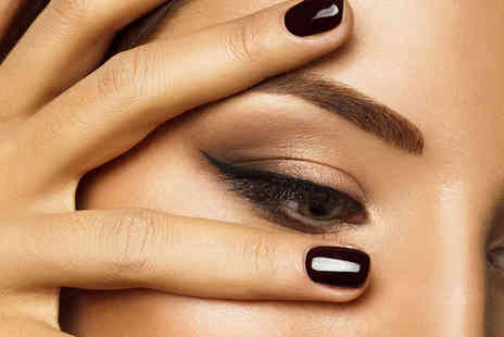 House of Beauty - Lash and Brow Tint and Brow Shape  or Beauty Package with Lash and Brow Tint, Shellac for Hands and Feet, and Spray Tan - Save 50%