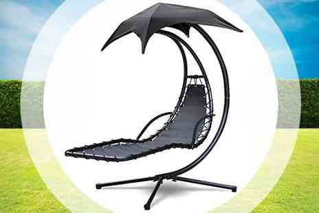my internet warehouse - Helicopter Swing Chair in Grey or Black - Save 45%
