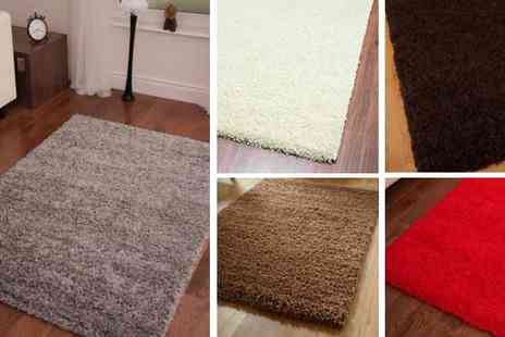 Your Essential Store - Modern Thick Soft Shaggy Rug in a Range of Sizes and Colours - Save 67%