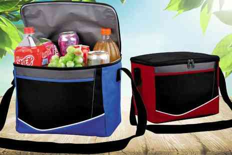 Home Store Direct - Large Foldable Picnic Cooler Bag in Red or Blue - Save 67%