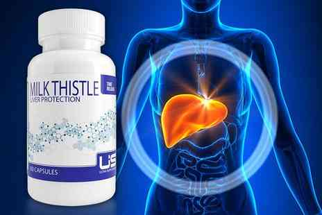 Ultra Supplements - Two month supply of Milk Thistle Liver Protection supplements - Save 82%