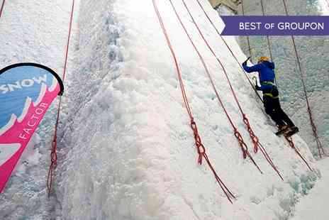 Snow Factor - Ice Wall Climbing Plus Meal For One or Two - Save 47%