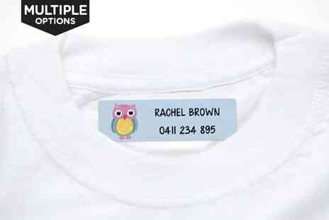 Personalised Iron-On Name Labels - 44 Iron On Name Labels - Save 72%