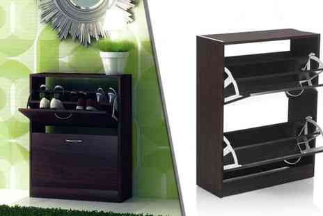 Brown Source - Two or Three Door Shoe Tidy Cabinet/Cupboard - Save 0%