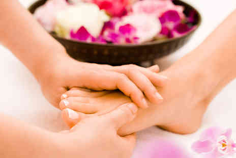 50 Shades of Beauty - One hour luxury pedicure treatment with nail polish - Save 40%