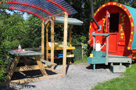 Wildflower Glamping - Two Nights Glamping for Two in the Wild Rose Wagon  - Save 39%