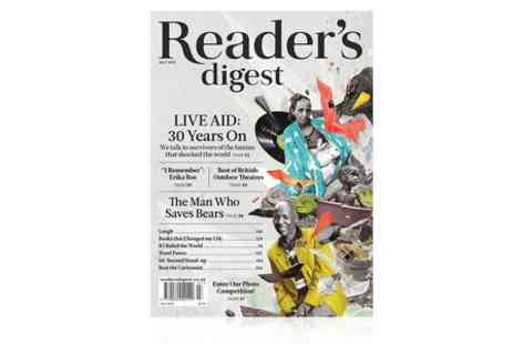 Readers Digest UK - 12 Month Readers Digest Magazine Subscription With Free Delivery - Save 60%