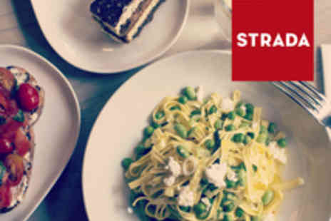 Strada - Three Course Italian Meal with Wine or Beer - Save 0%