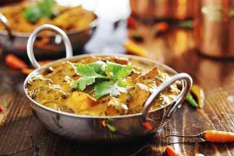 Nawab Indian Cuisine - Two Course Indian Meal With Sides For Two - Save 60%