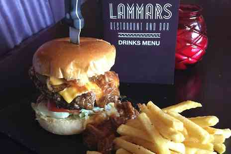Lammars Restaurant - Burger or Nachos With Drink  - Save 42%